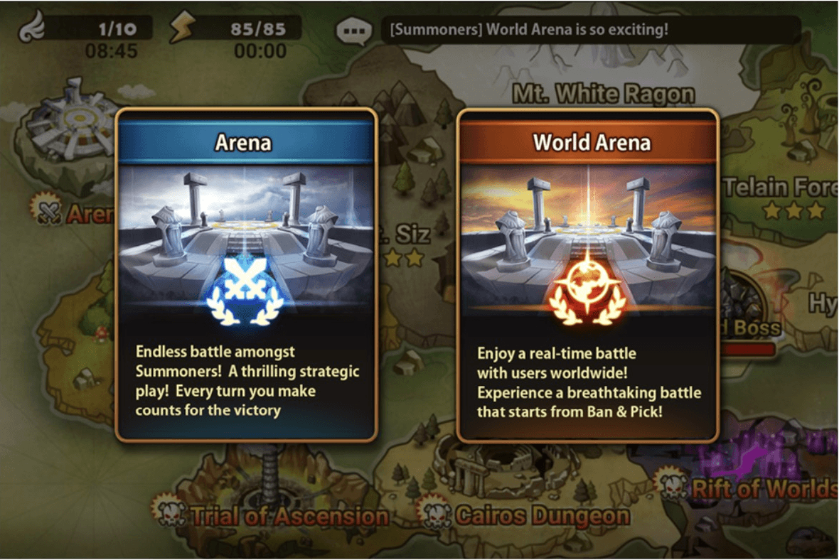 Developer's Note: World Arena Official Service - Summoners